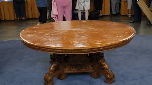 round table rohnert park american aesthetic movement oak dining table ca 1880 antiques