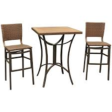 Patio Bar Height Dining Table Set Lovely 3 Piece Patio Bar Height Bistro Set Concept Curtain And 3