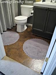 Linoleum Kitchen Flooring by Brown Paper Floor Dark Walnut Stain In Bathroom Over Linoleum