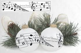 musical notes wedding ornament favor you could print up stickers