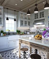 country home kitchen ideas comfortable family home design cottage decor in neutral colors