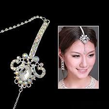 clear ab rhinestone forehead jewelry bindi with