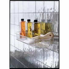 interdesign bathroom shower suction caddy holder for shampoo