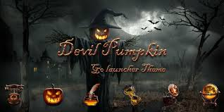 smoke machine halloween devil pumpkin golauncher theme android apps on google play