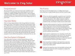 users manual zing solar