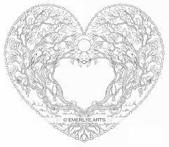 love tree heart coloring open heart