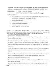 Production Engineer Resume Pdf Interesting Production Engineer Responsibilities Resume 93 For
