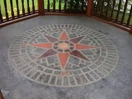 concrete stencil accent compass star circle compass