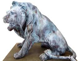 pair of bronze lions statues worthgalleries