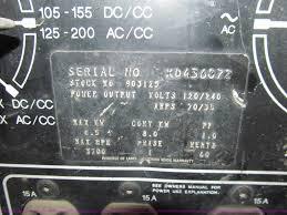 miller bobcat 225g ac dc welder generator item e4775 sol