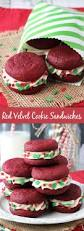 red velvet cookie sandwiches recipe holiday treats cream and
