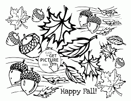 happy fall coloring pages for kids fall leaves printables free