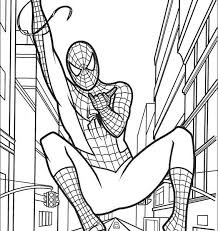 good spiderman coloring pages kids 44 drawings