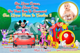 template mickey mouse first birthday invitations wording plus