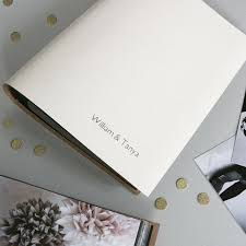 Slip In Photo Albums Personalised Leather Slip In Wedding Photo Album By Begolden