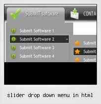 slider drop down menu in html template