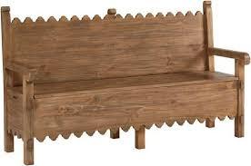 scallop bench with storage u2013 woods furniture