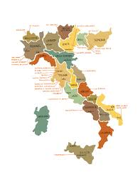 Maps Of Italy by Wine Regions Map Of Italy Italy Wine Regions Map Vidiani Com