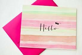 watercolor notecards hello watercolor notecards shop design