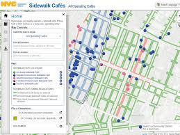 Brooklyn Zip Code Map There U0027s A New Interactive Map That Shows You Every Sidewalk Cafe