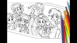 my little pony equestria girls coloring for kids mlp coloring