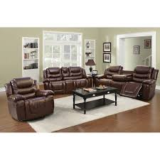 living room amusing 3 piece reclining living room set leather