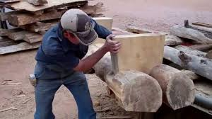 make a log bench by mitchell dillman youtube