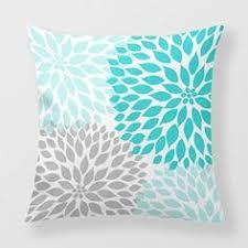 amazon canapé yourway couvre lit décoratif coussin bleu turquoise gris dahlia