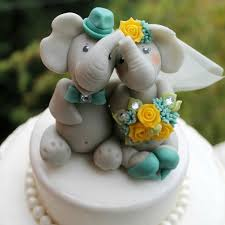 wedding cake toppers and groom unique elephant and groom wedding cake toppers