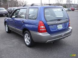 blue subaru forester 2003 2003 pacifica blue metallic subaru forester 2 5 xs 27625090 photo