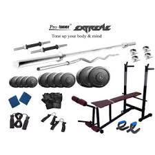 Weight Bench Package Extreme Weight Lifting Package 20 Kgs 5 U0027 Straight 3 U0027 Curl Rod