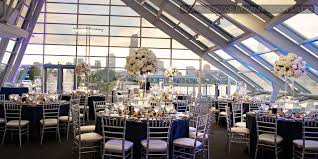 unique chicago wedding venues modern wedding reception with unique centerpieces and table