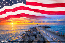 American Flag Sunset American Flag Product Tags Royal Stock Photo
