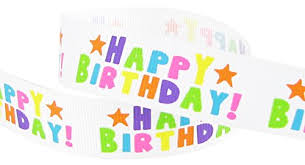 birthday ribbons hipgirl printed grosgrain happy birthday ribbon 5