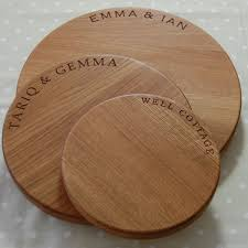 engraved wooden gifts solid oak crafted cheese board personalised