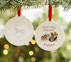 baby s personalized ornaments pottery barn