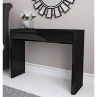 Black Gloss Console Table Hall And Console Tables Furniture123