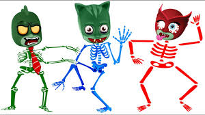pj masks zombie skeleton coloring pages for kids zombies