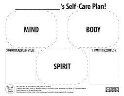 making a self care plan for you and your clients u2013 social work tech