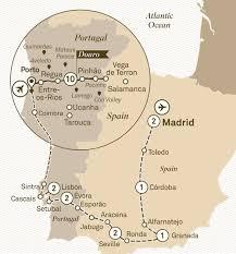 Map Of Portugal And Spain Iberian Grandeur Scenic