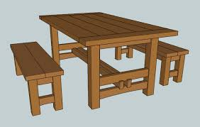 Building Plans For Small Picnic Table by 208 Rustic Outdoor Table 1 Of 2 The Wood Whisperer