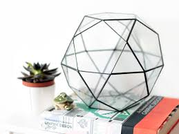 geometric terrarium christmas gift modern table centerpiece