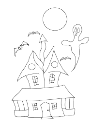 Halloween House Coloring Pages by Free Halloween Coloring Pages Stuwahacreations
