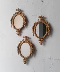 gold mirror set in small decorative vintage frames home decor