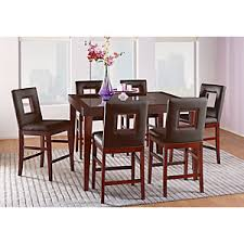 Rooms To Go Dining Room by Sofia Vergara Savona Chocolate 5 Pc Counter Height Dining Room