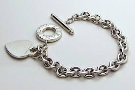 tiffany heart silver bracelet images Authentic tiffany co sterling silver toggle heart charm jpg