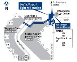 seatac light rail station 2 75 from airport to downtown seattle pinterest seattle