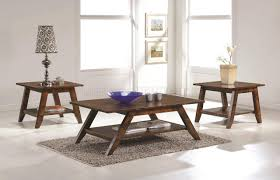 704038 coffee table 3pc set in rustic pecan by coaster