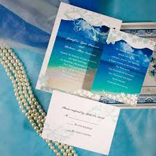 summer wedding invitations simple seaside theme blue summer wedding invitation elite