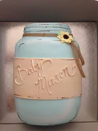 baby shower cake country style mason jar created by beverly u0027s
